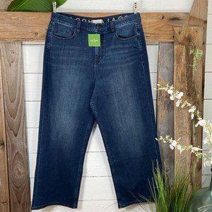 Denim NWT Kate Spade Broome St. Cropped Wide Leg